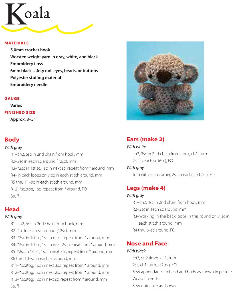 Link Amigurumi Crochet Pattern : Meet Koko, The Baby Amigurumi Koala! (Free Pattern ...